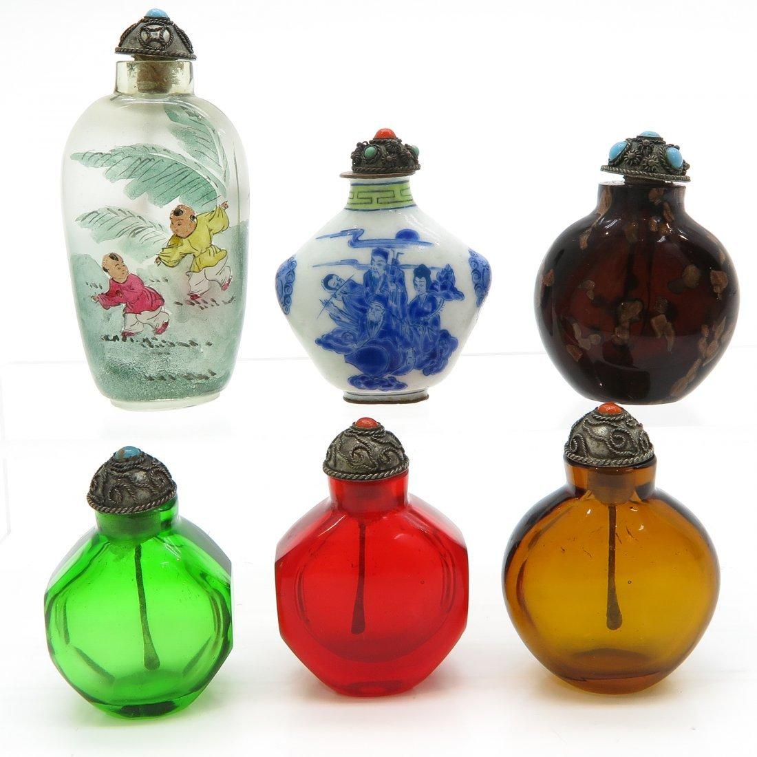 Lot of 6 Chinese Snuff Bottles - 3