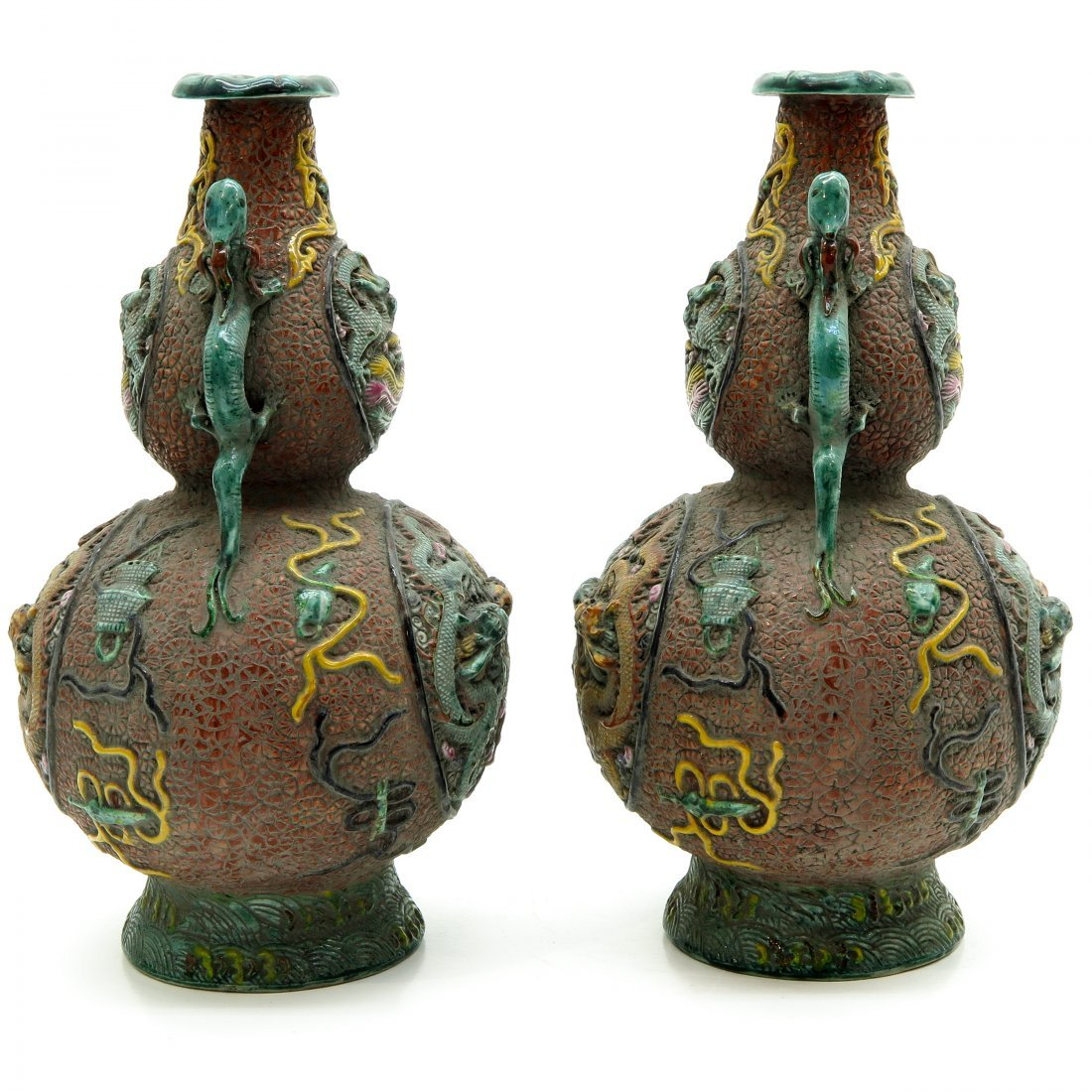 Lot of 19th Century China Porcelain Vases - 2