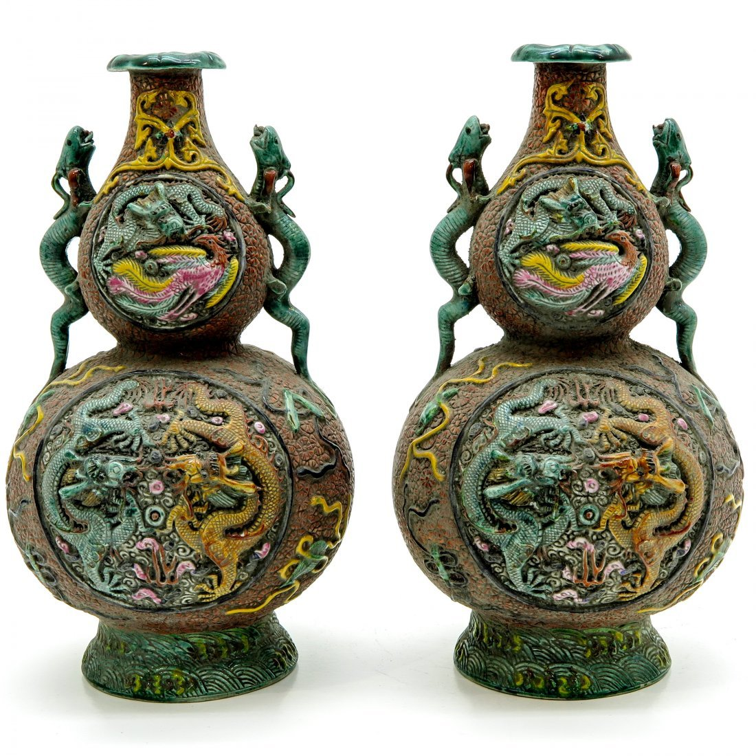 Lot of 19th Century China Porcelain Vases - 3