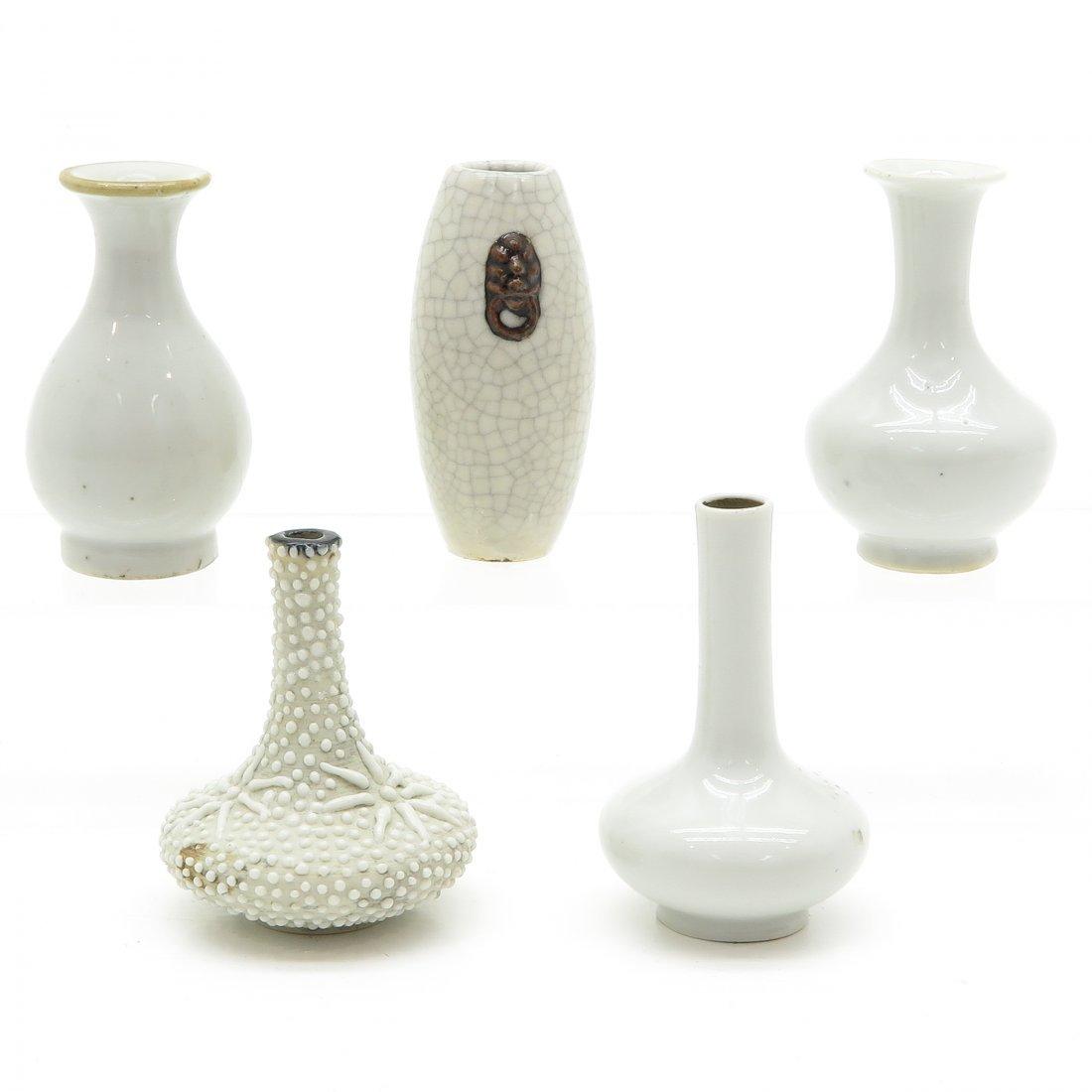 Lot of 5 China Porcelain Miniature Vases - 2