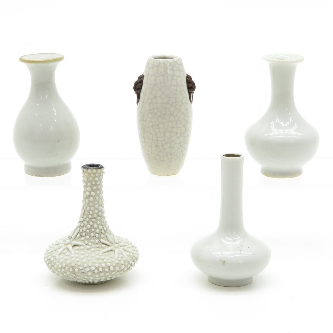 Lot of 5 China Porcelain Miniature Vases - 3