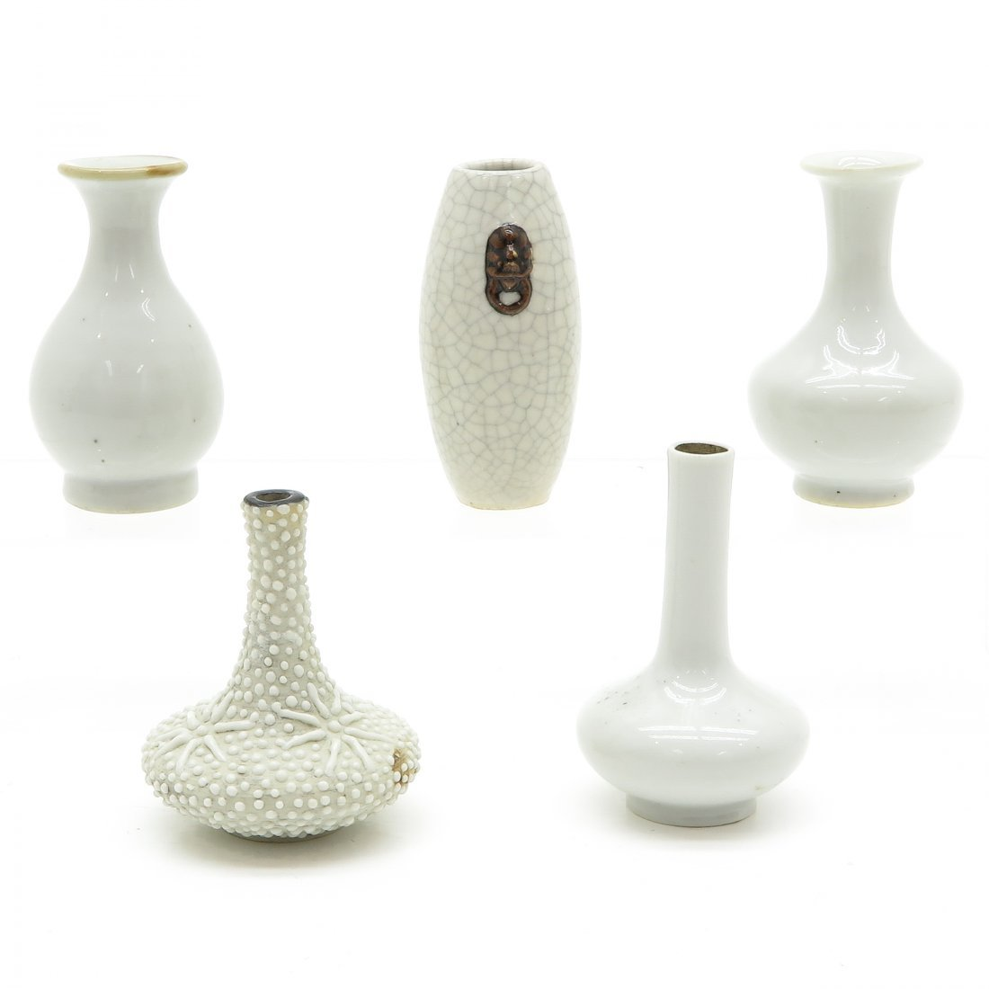Lot of 5 China Porcelain Miniature Vases - 4