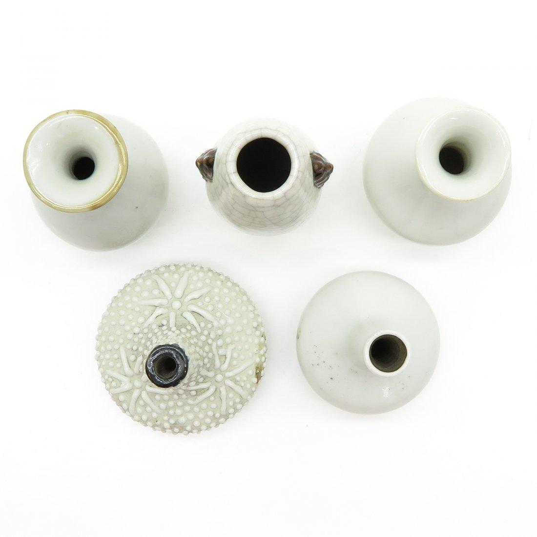 Lot of 5 China Porcelain Miniature Vases - 5