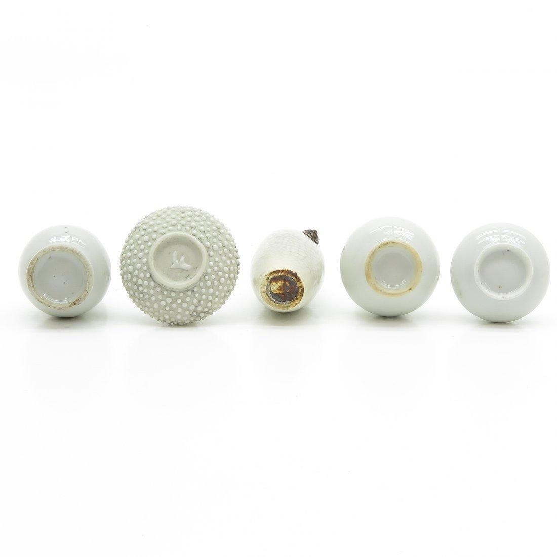 Lot of 5 China Porcelain Miniature Vases - 6