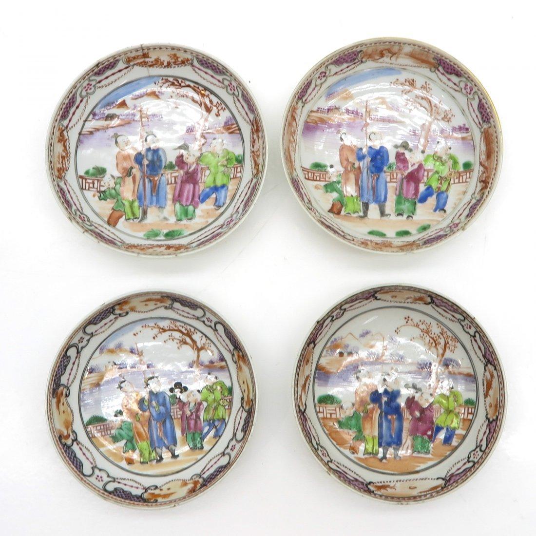 Lot of 18th Century Mandarin Decor Plates