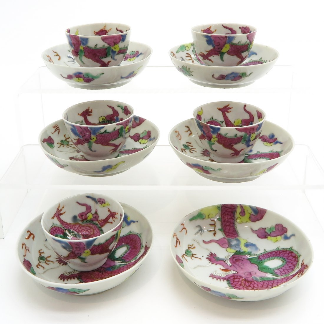 18th / 19th Century China Porcelain Cups and Saucers