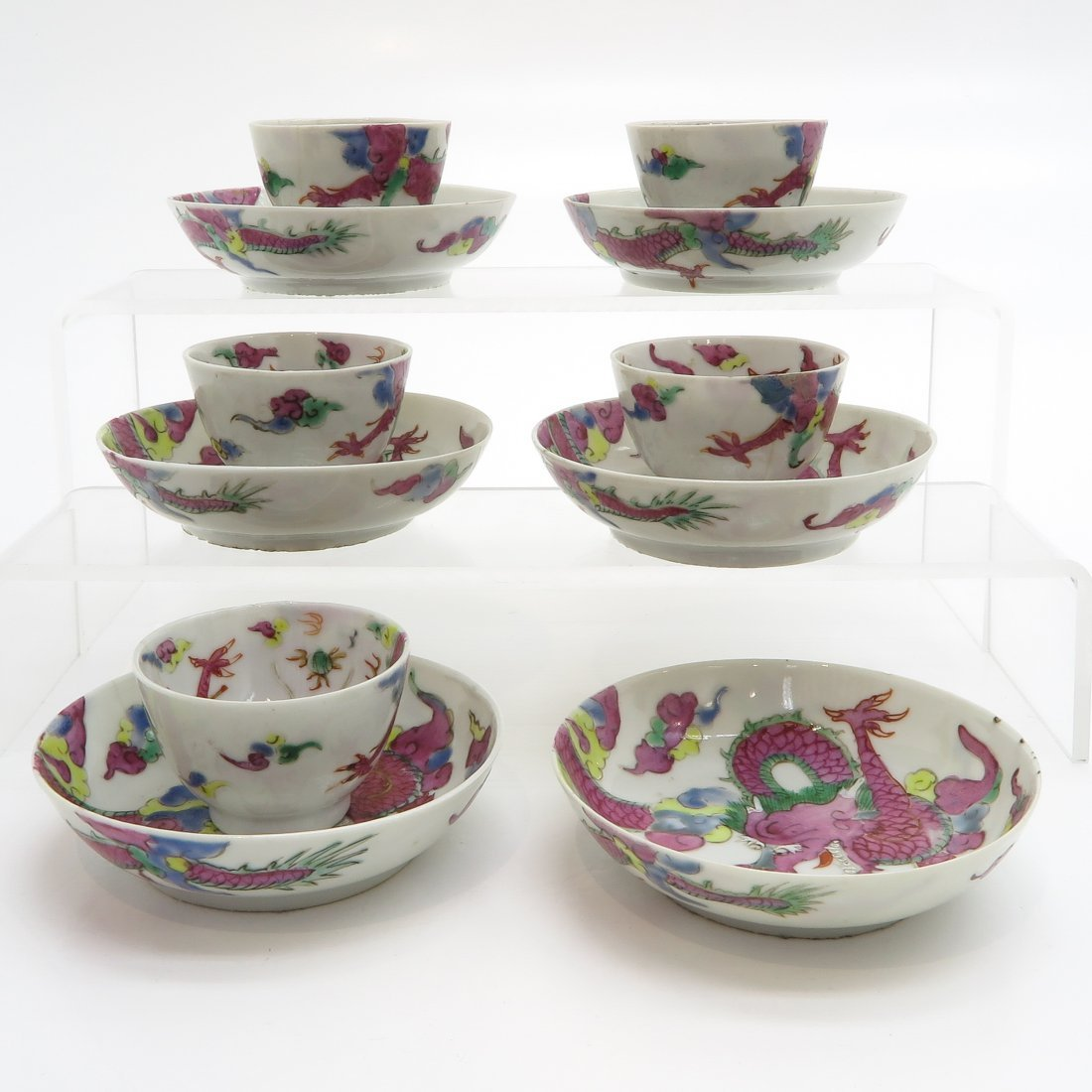 18th / 19th Century China Porcelain Cups and Saucers - 4