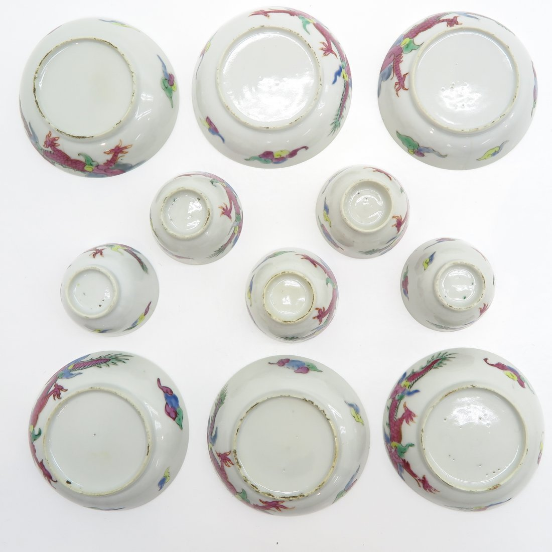 18th / 19th Century China Porcelain Cups and Saucers - 6