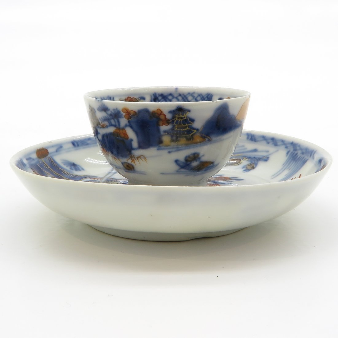 18th Century China Porcelain Cup and Saucer - 3