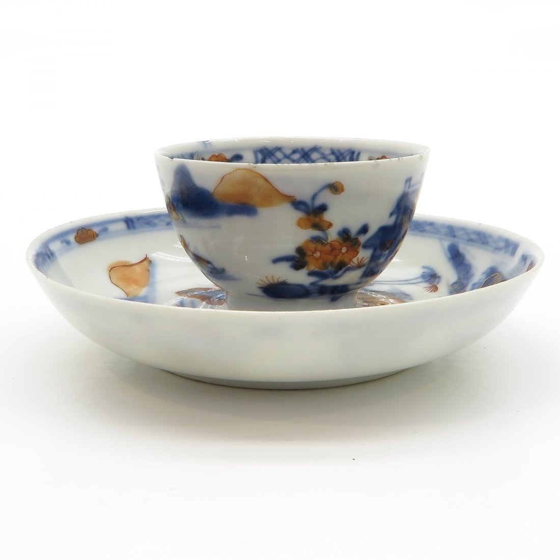 18th Century China Porcelain Cup and Saucer - 4