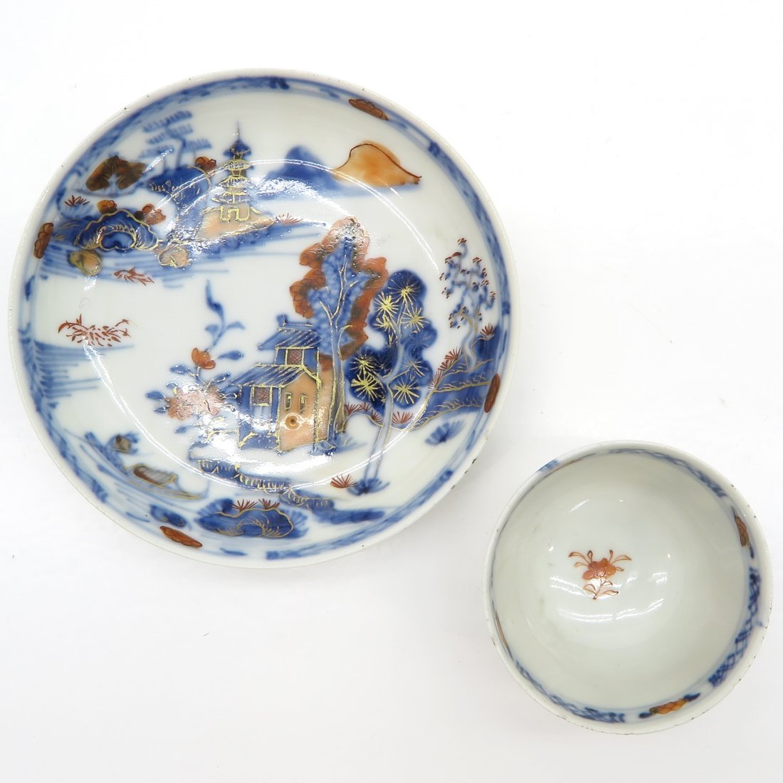 18th Century China Porcelain Cup and Saucer - 5