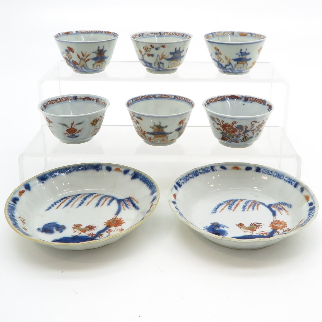 Lot of 18th Century China Porcelain Cups and Saucers