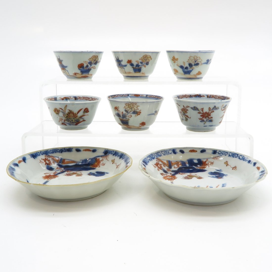 Lot of 18th Century China Porcelain Cups and Saucers - 3