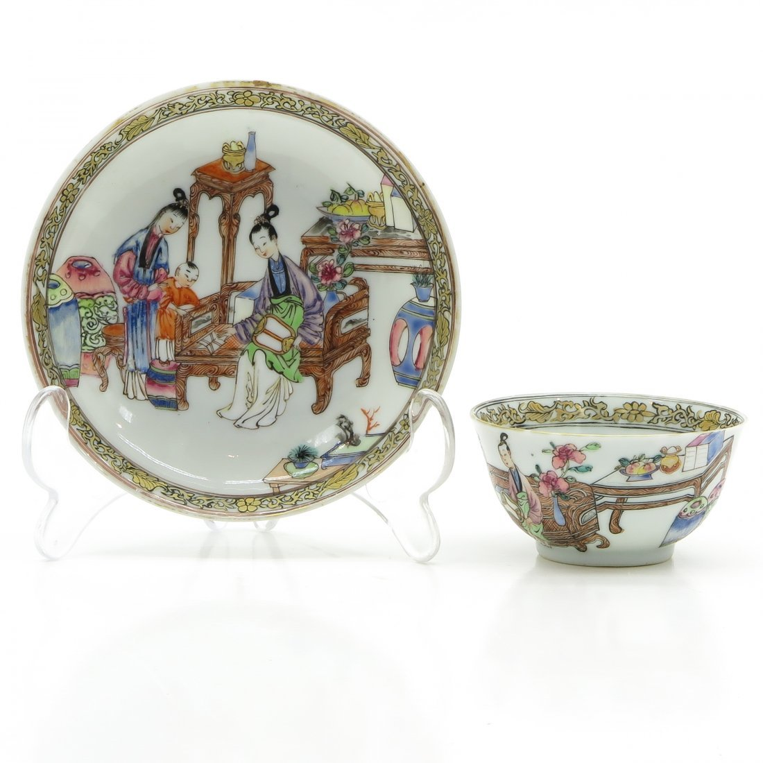 Yongzheng Period Cup and Saucer