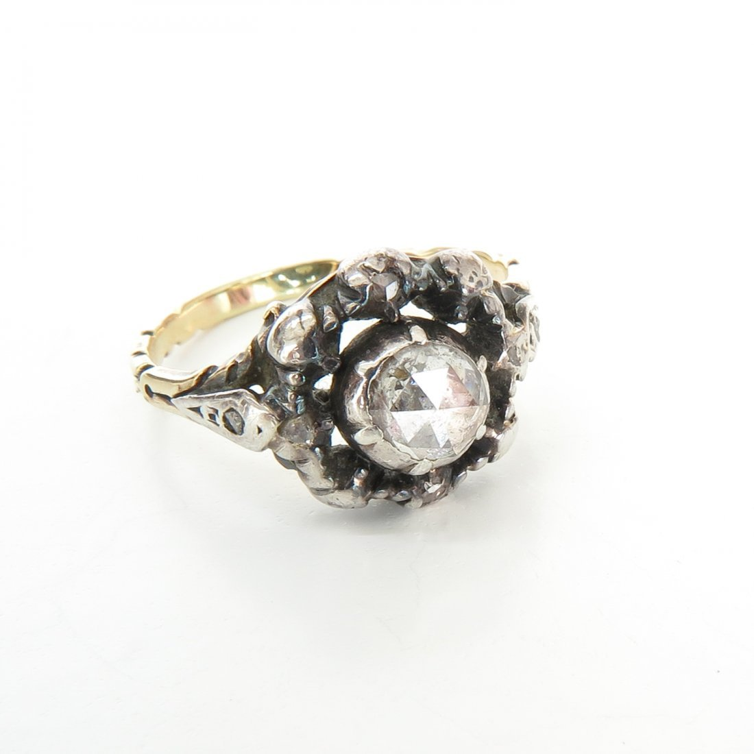Ladies Rose Cut Diamond Ring Circa 0.40 Carat