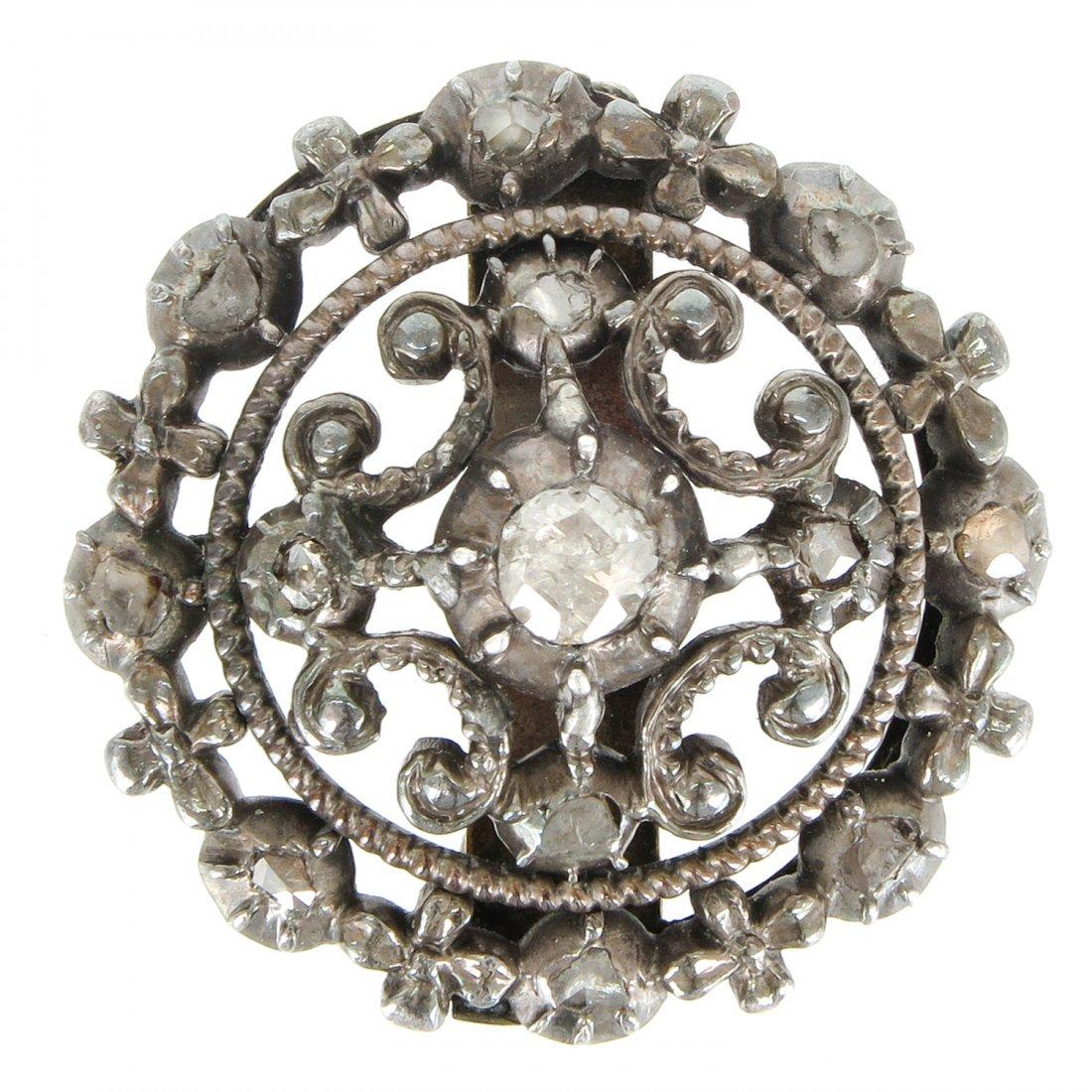 Antique Cut Diamond Brooch