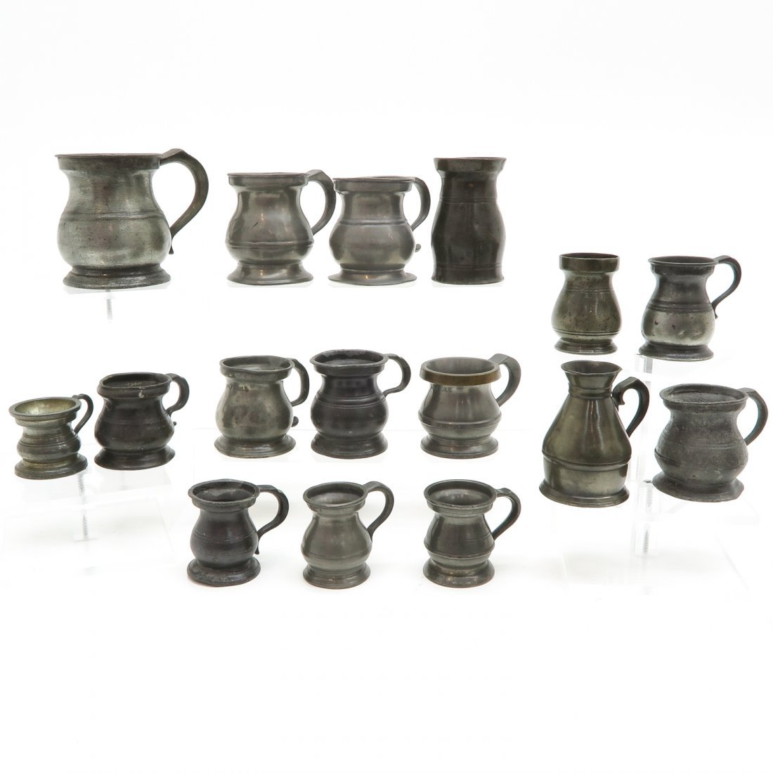 Lot of 18th / 19th Century Pewter Tankards