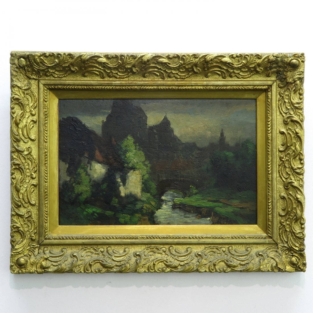 Signed Theodor Goedvriend Oil on Canvas