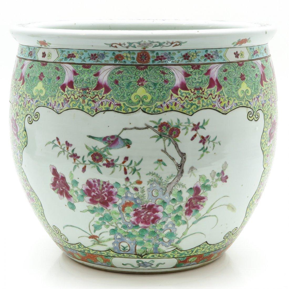 19th Century China Porcelain Wucai Decor Fish Bowl