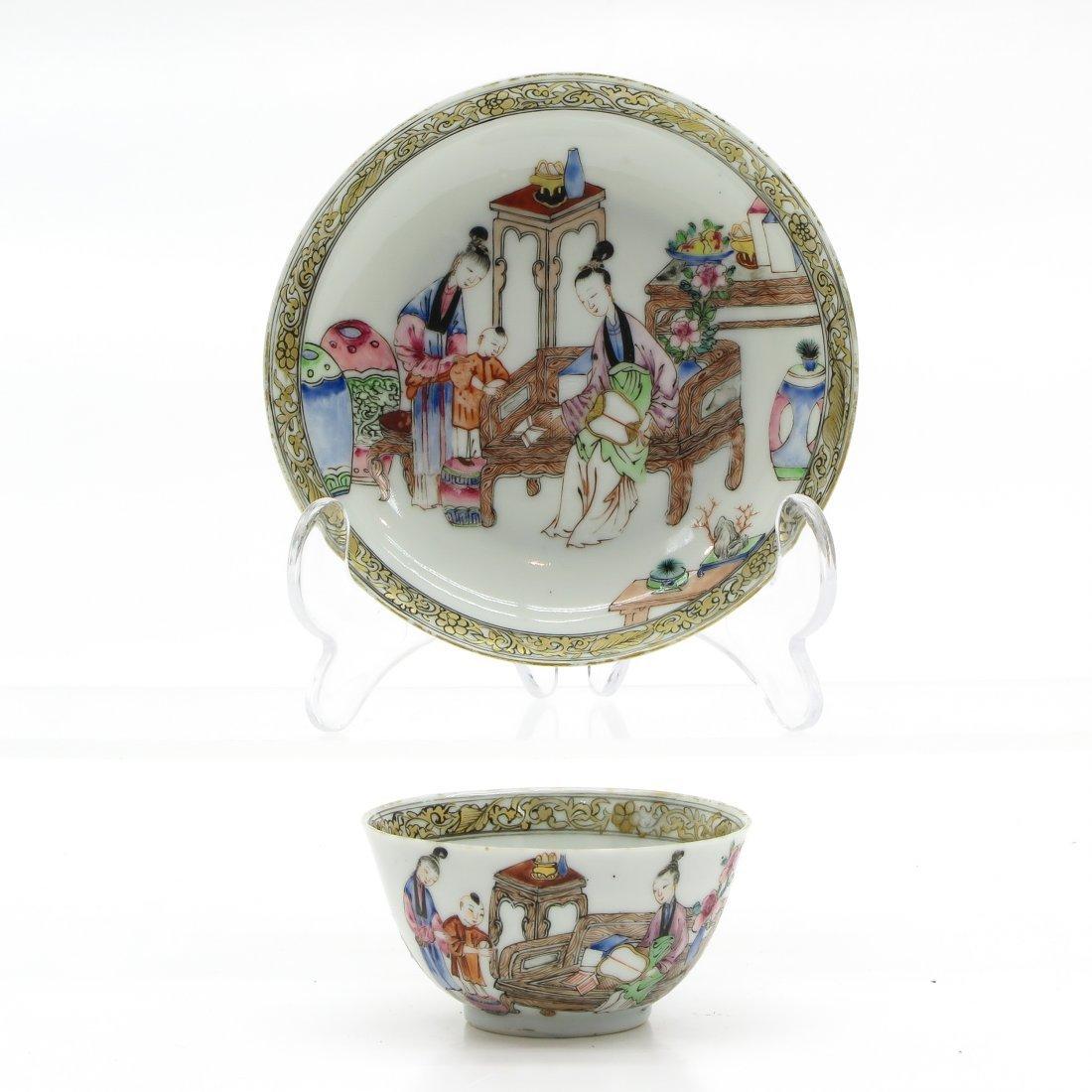 China Porcelain Yongzheng Period Cup and Saucer