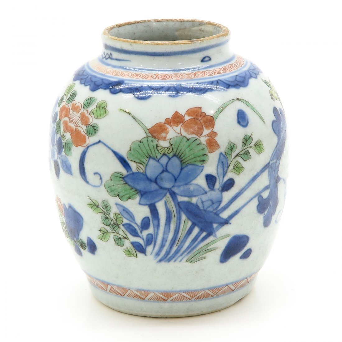 China Porcelain Wucai Decor Vase
