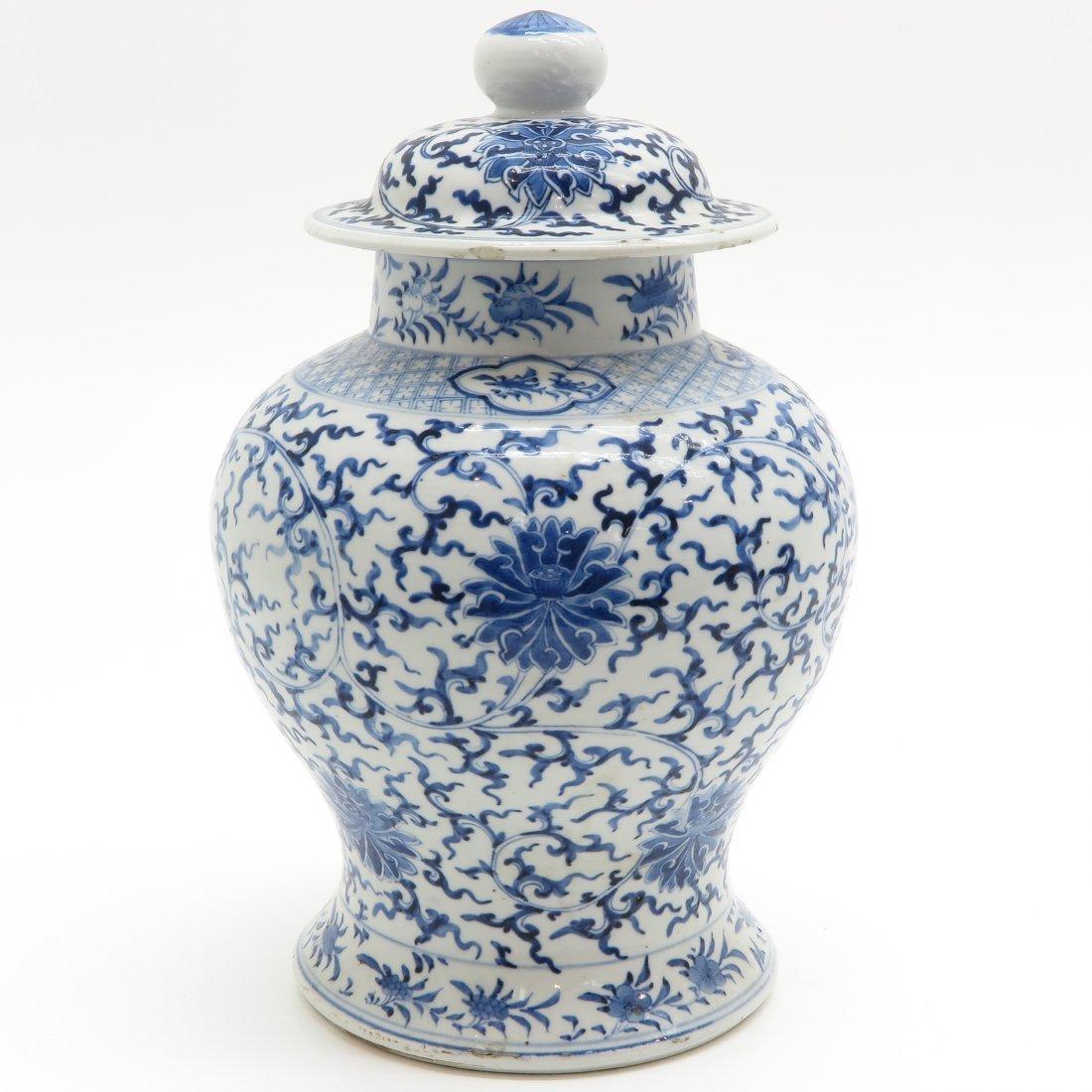 19th Century China Porcelain Lidded Vase