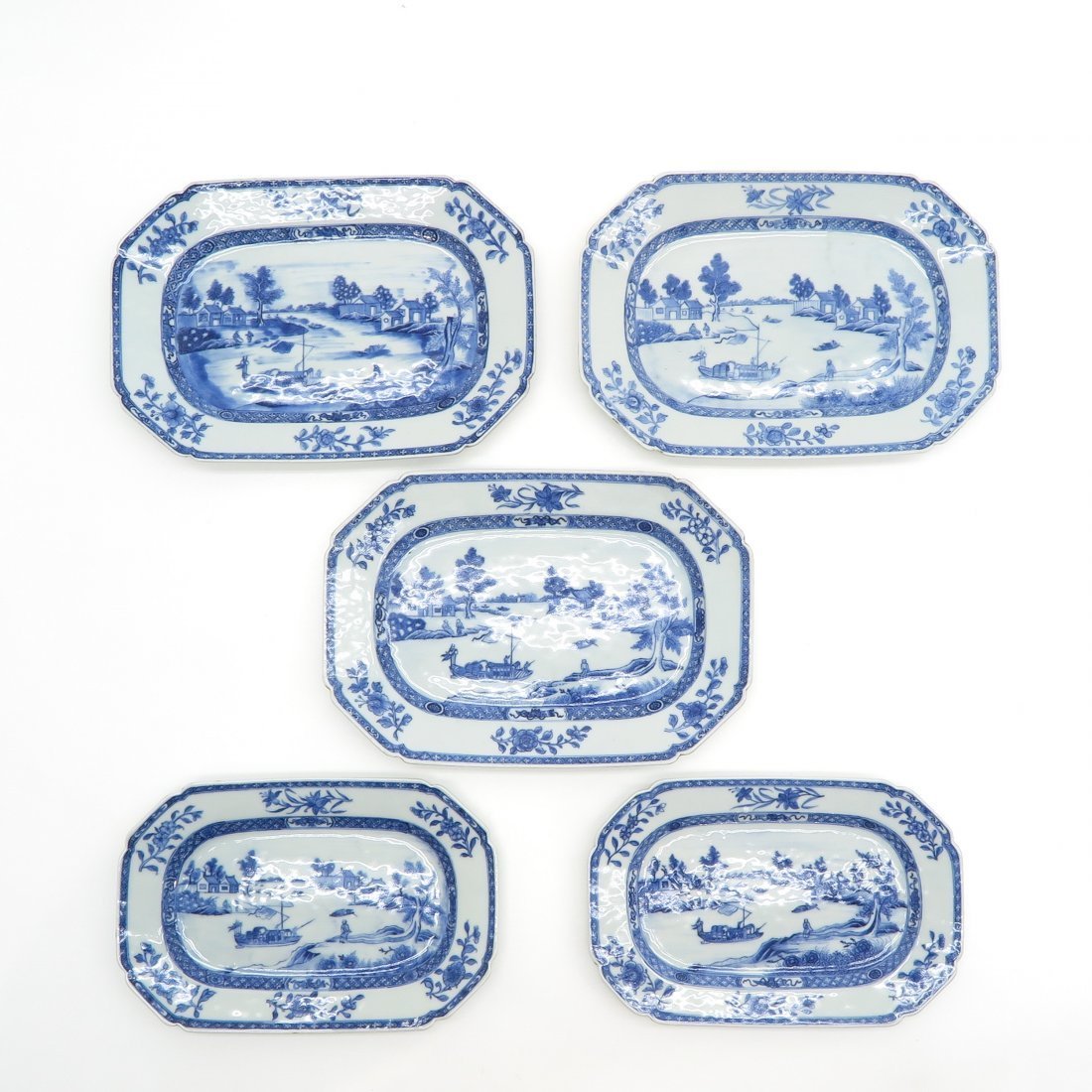 Lot of 18th Century China Porcelain Platters