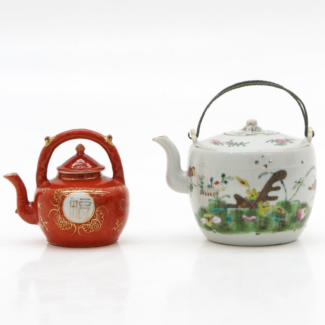 Lot of 2 China Porcelain Teapots