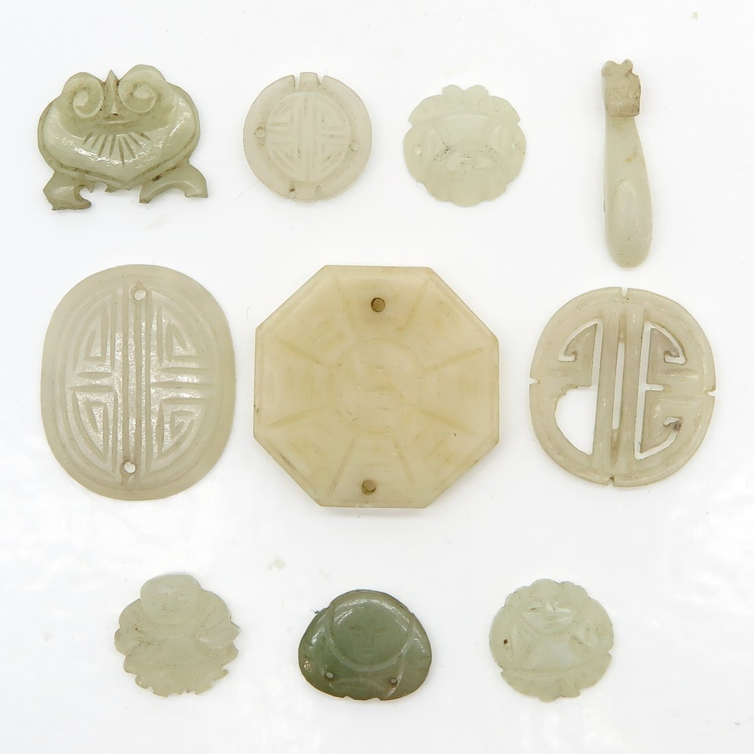 Lot of Carved Chinese Jade Items
