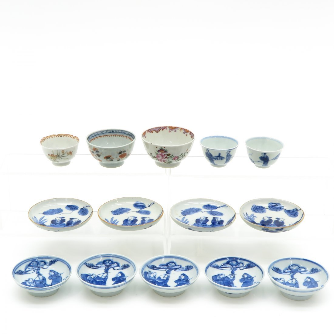 Diverse Lot of China Porcelain Cups and Saucers