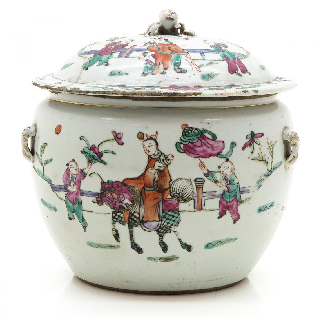 China Porcelain Lidded Jar Circa 1900