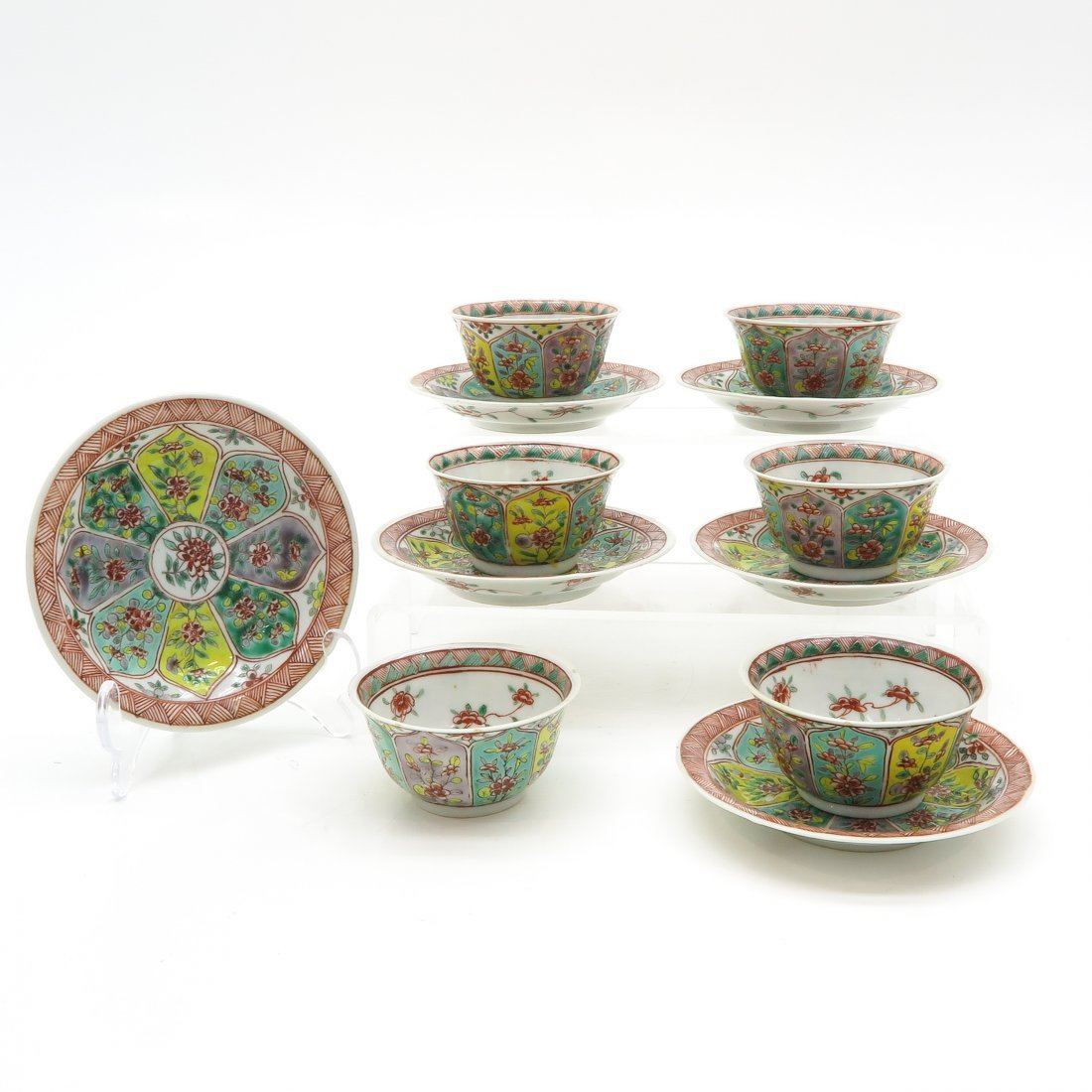 Lot of China Porcelain Cups and Saucers