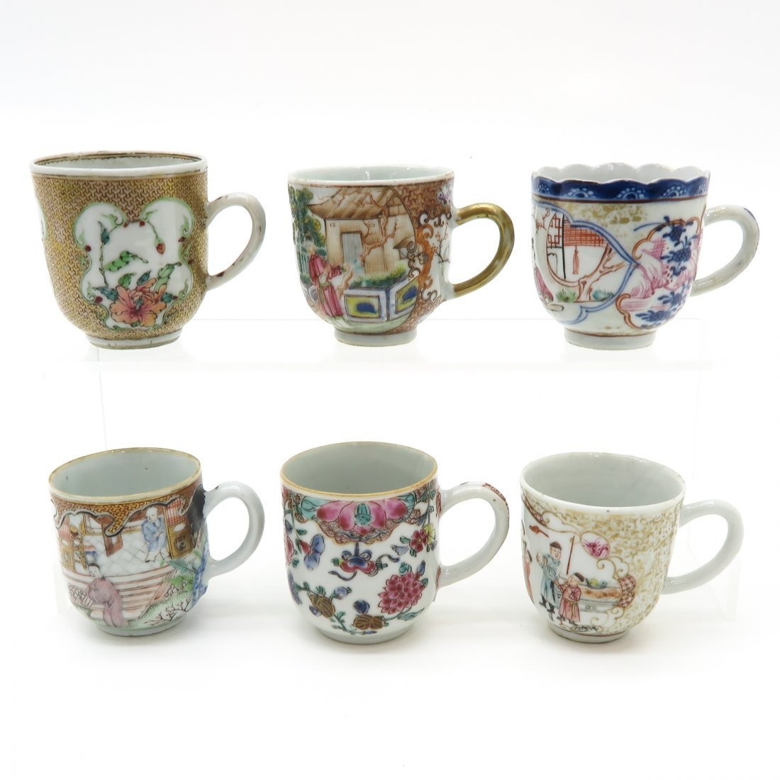 Lot of 18th Century China Porcelain Cups
