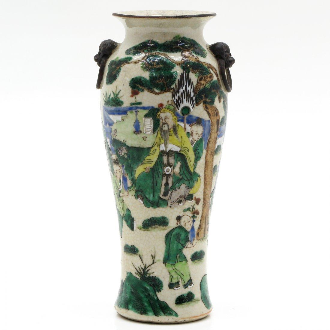 China Porcelain Famille Verte Decor Nanking Vase