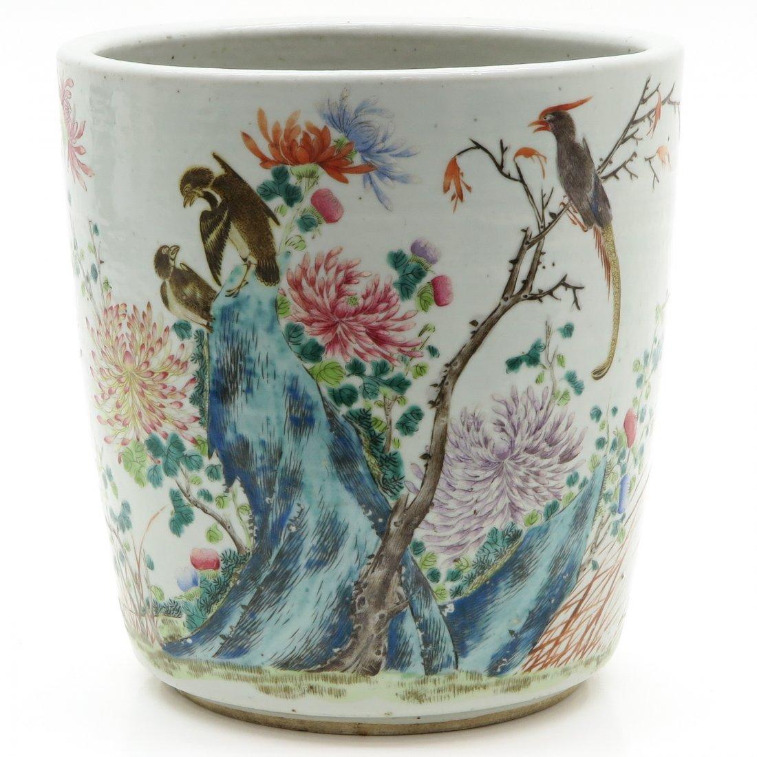 19th Century China Porcelain Famille Rose Cache Pot