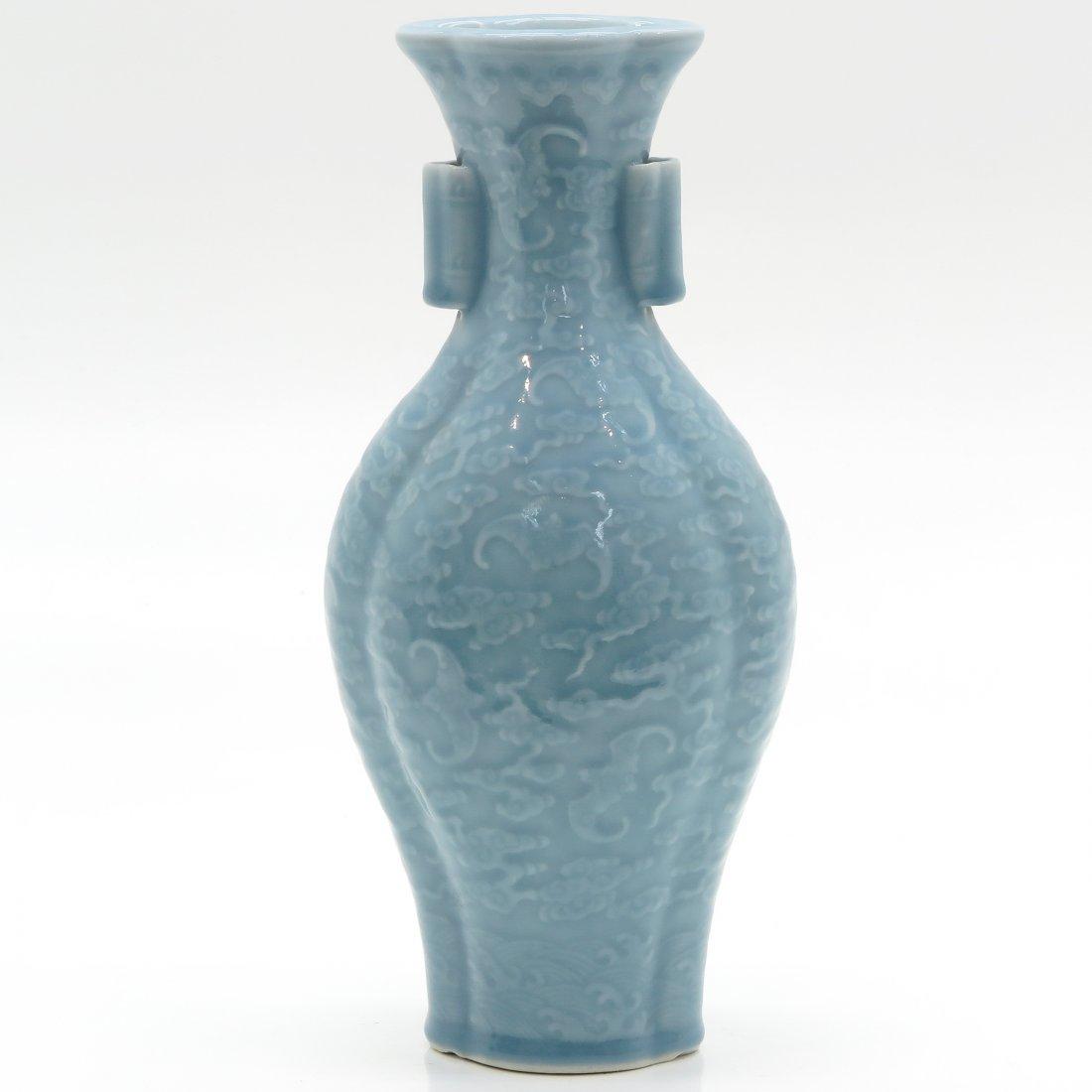 China Porcelain Claire de Lune Decor Vase