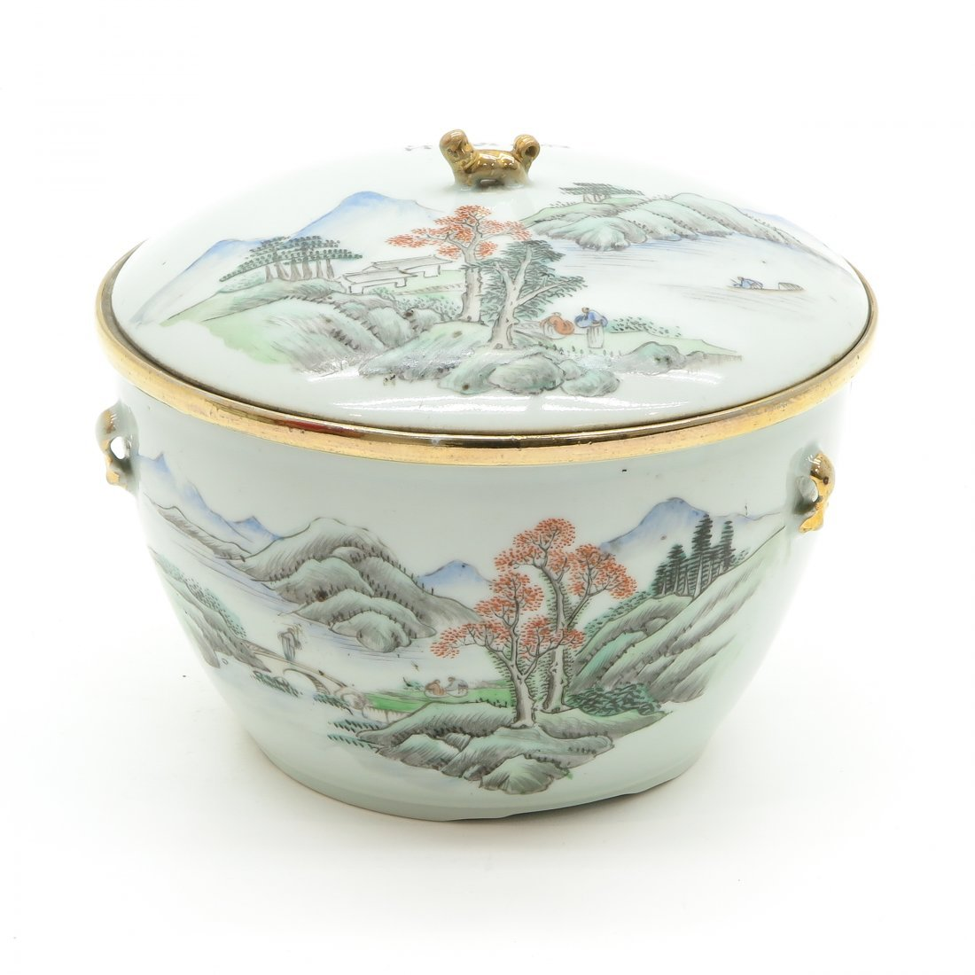 China Porcelain Lidded Dish