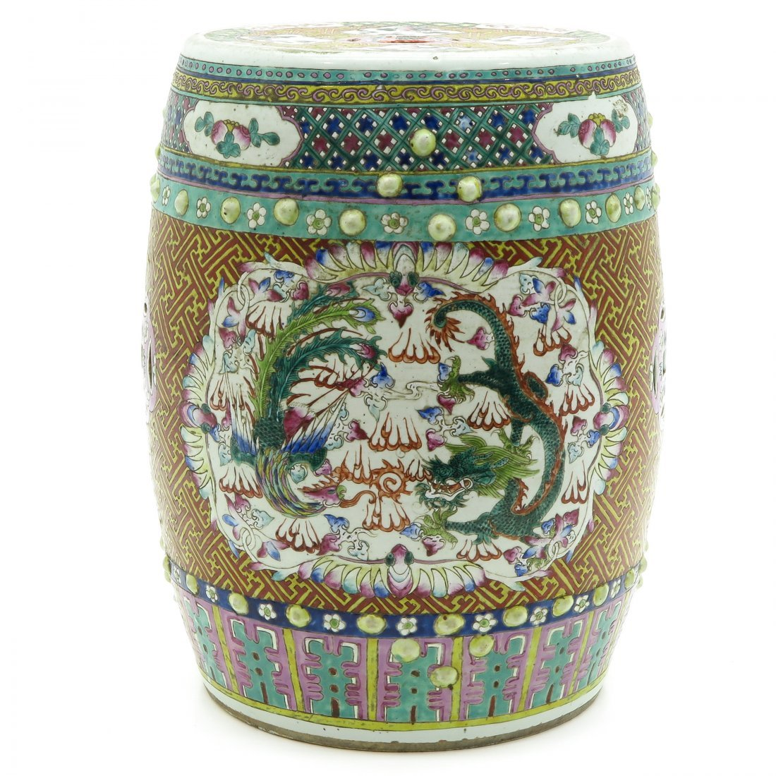 19th Century China Porcelain Garden Seat