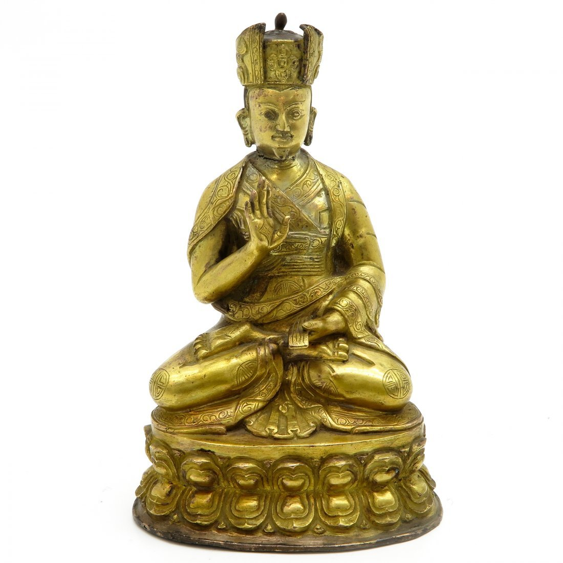 Chinese Gilded Bronze Sculpture