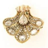 Beautiful Ladies Diamond Brooch  Pendant