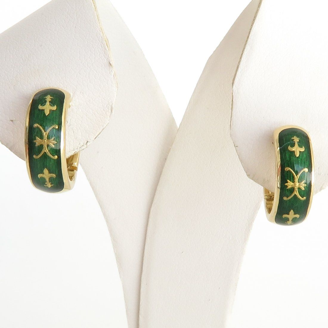 Faberge 18KG Earrings by Victor Mayer