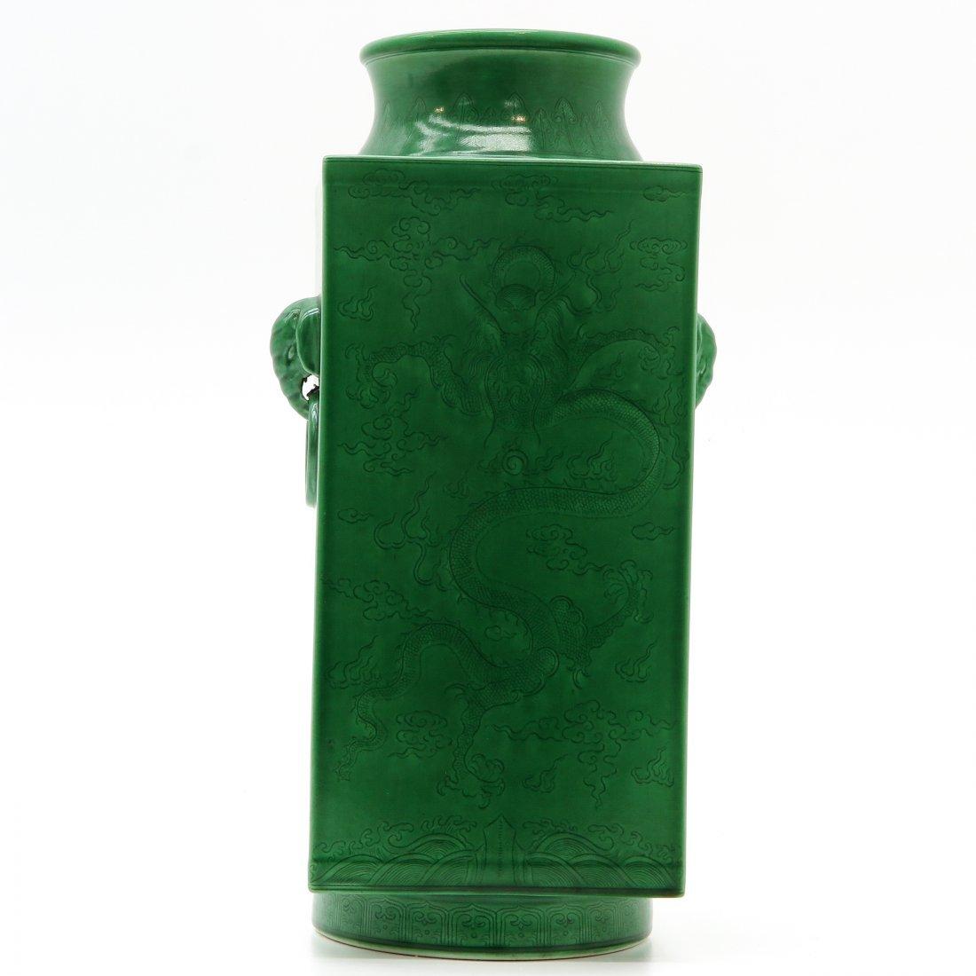 China Porcelain Green Glaze Vase