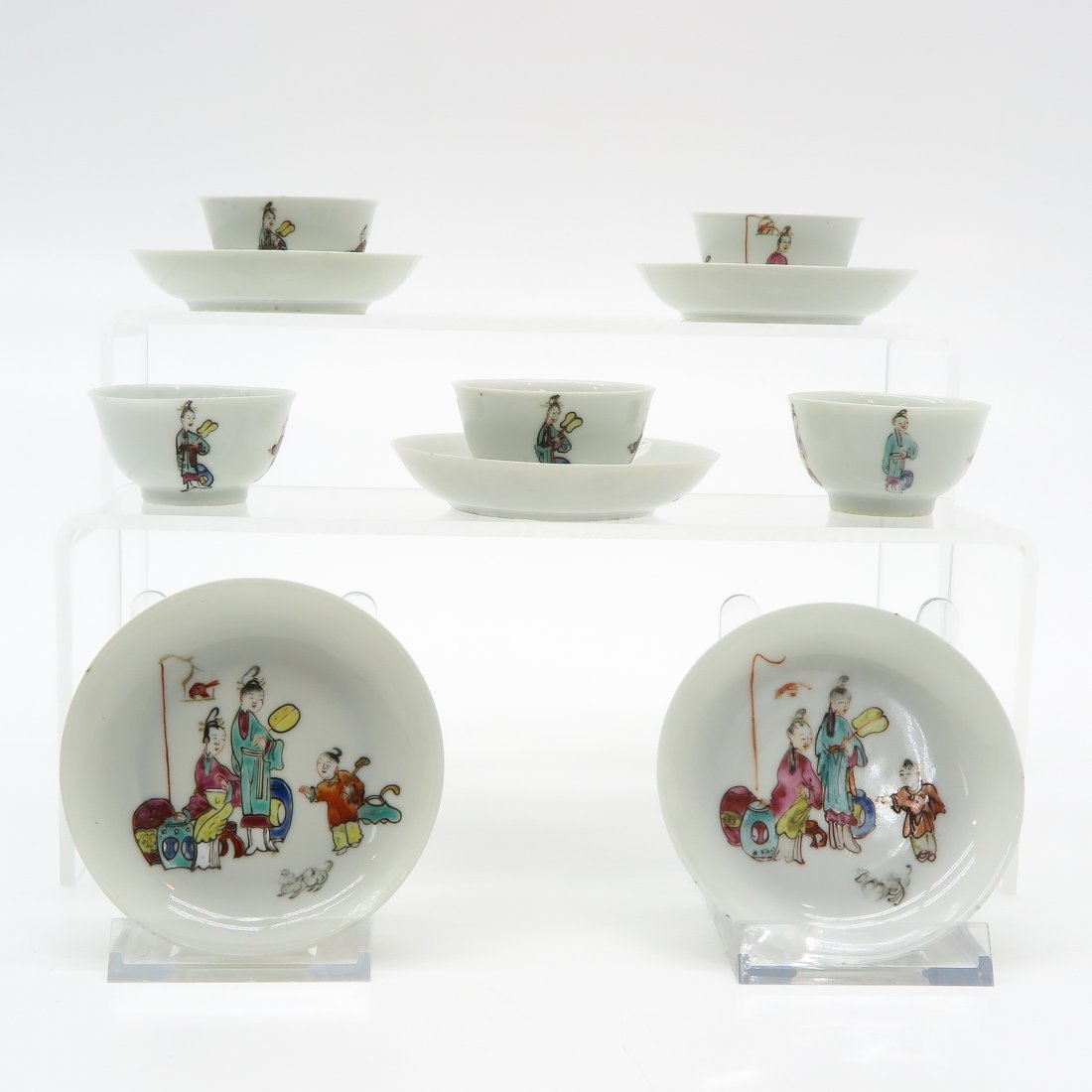 Lot of 5 China Porcelain Cups and Saucers