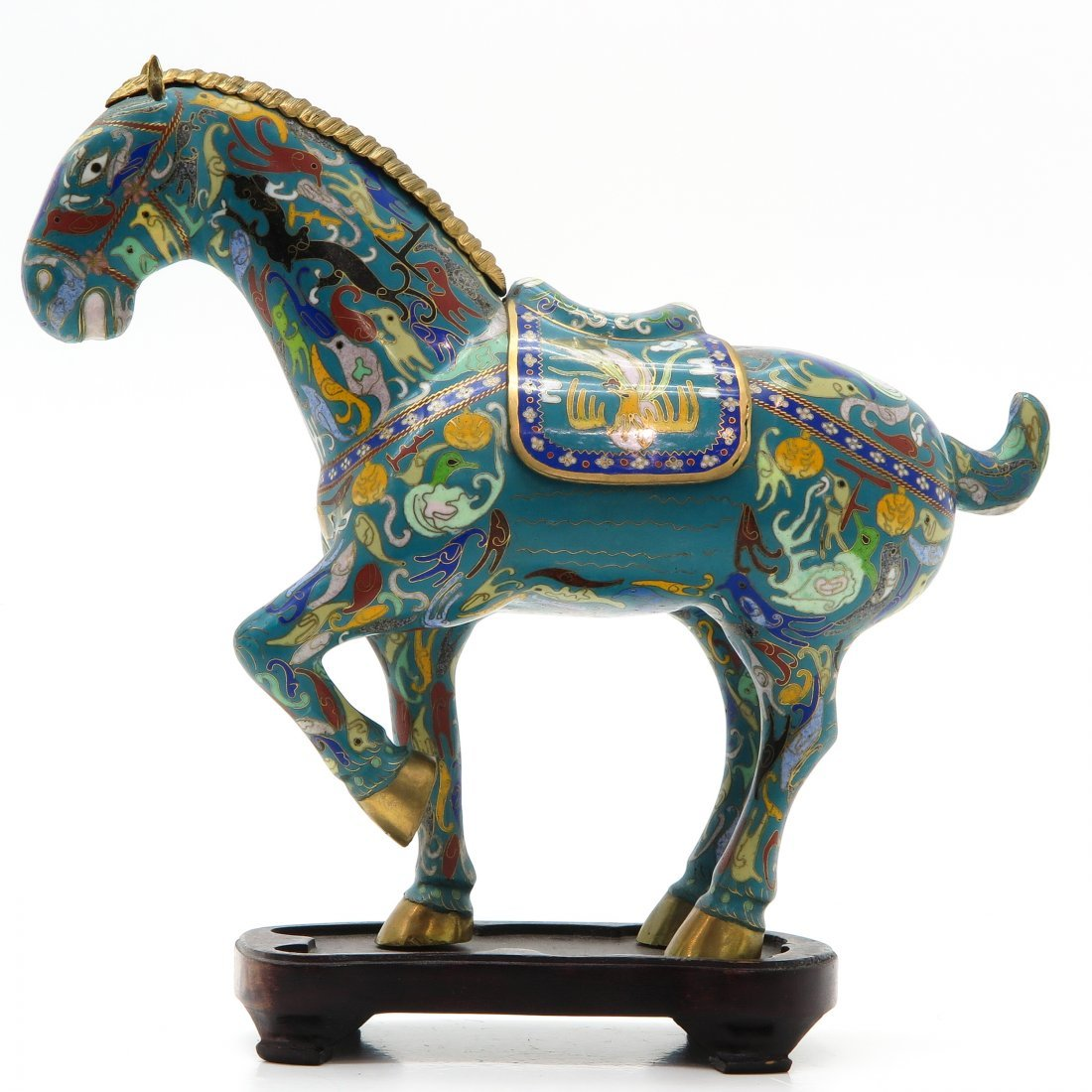 Chinese Cloisonné Sculpture of Horse