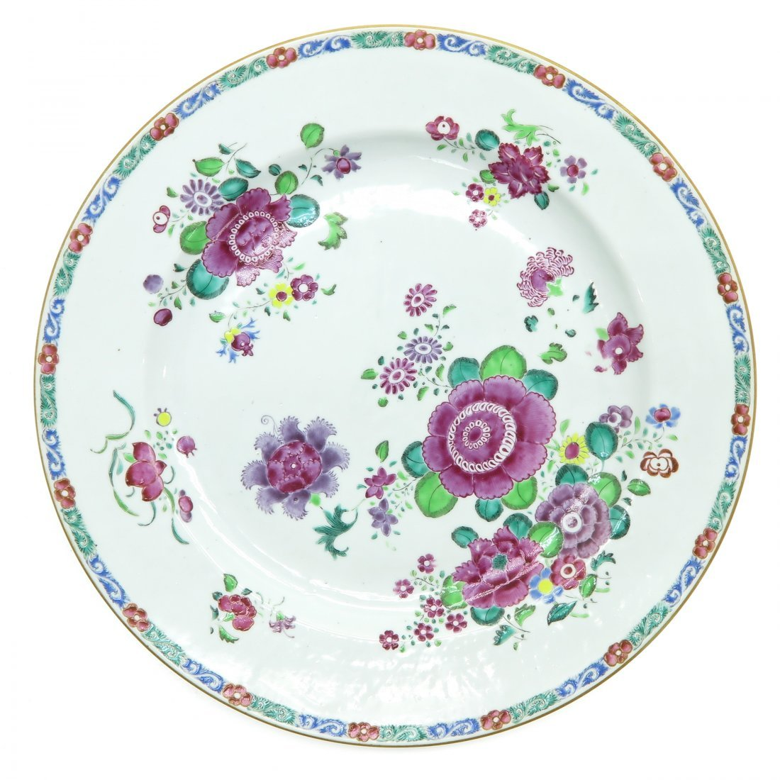 A Large 18th Century China Porcelain Plate