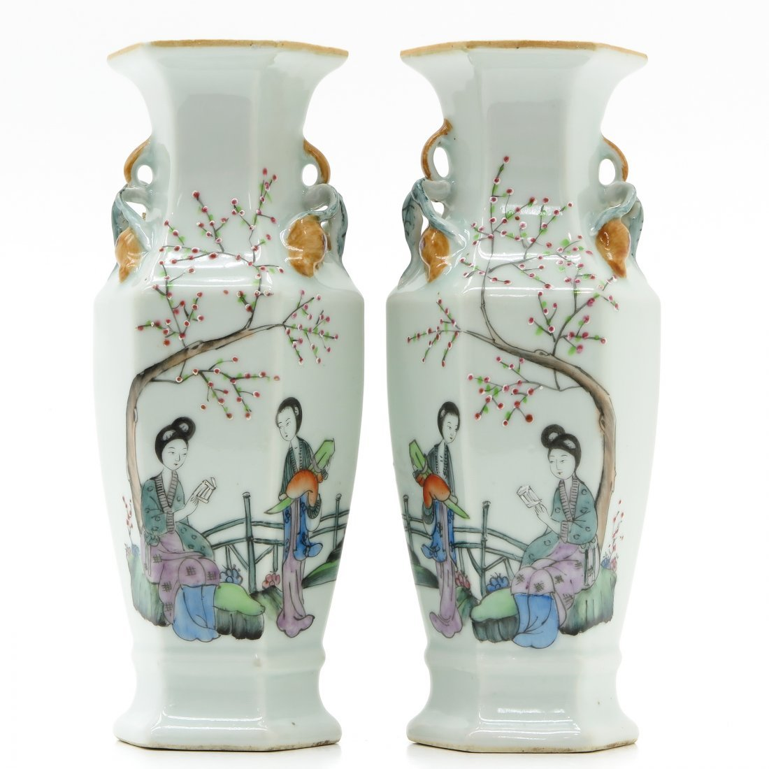 Pair of China Porcelain Vases