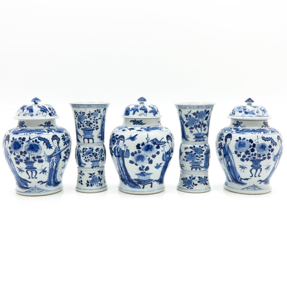 5 Piece China Porcelain Kangxi Period Garniture Set