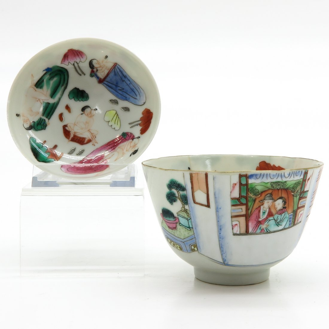A Rare 19th Century Covered Cup with Erotic Decor