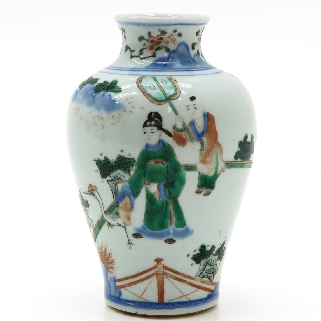 China Porcelain Vase in Wucai Decor