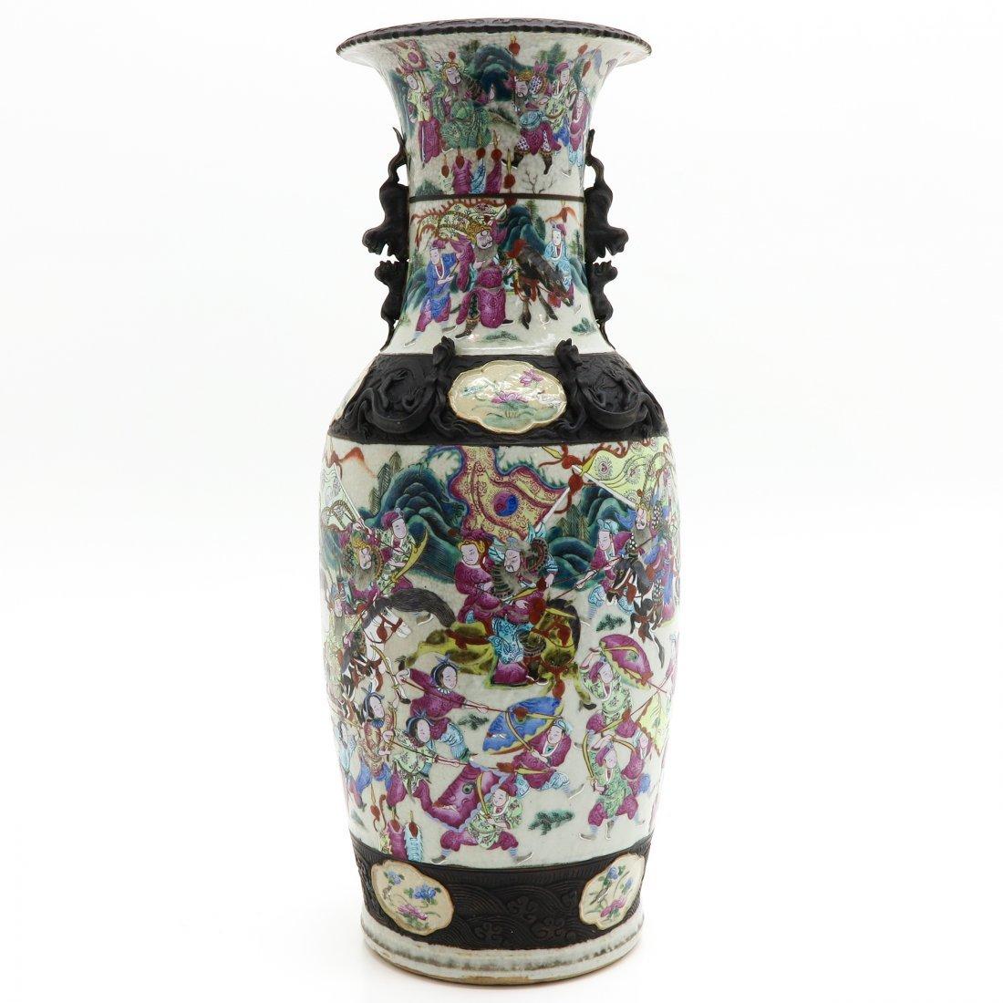 China Porcelain Famille Rose Decor Nanking Vase